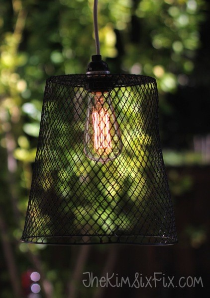 Dollar Store Wastebasket Pendant Light
