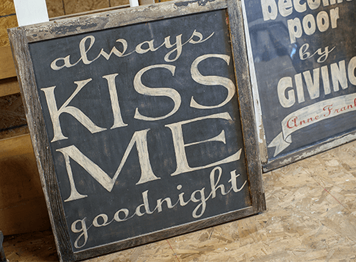 DIY Rustic Hand Painted Signs from Reclaimed Wood