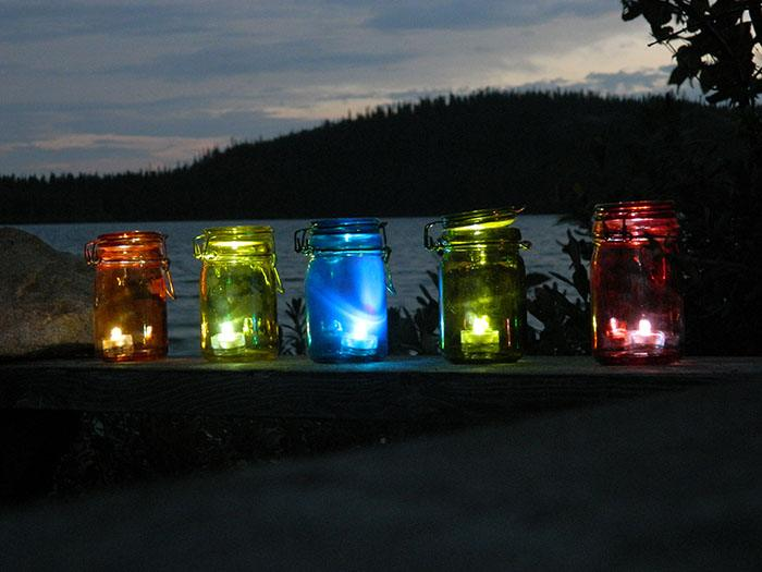 DIY Outdoor Tea Light Lanterns