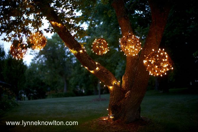 DIY Grapevine Lighting Balls