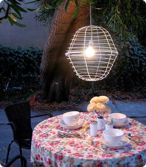 kate's outdoor planter pendant lamp