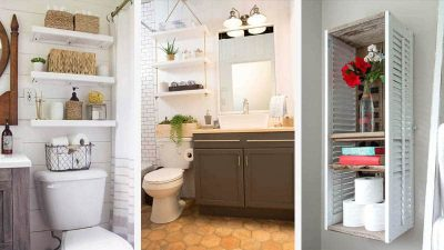 19 Simple Over The Toilet Storage Solutions